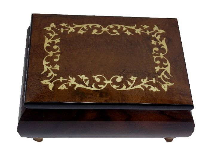 Walnut Scroll Musical Jewellery Box and Other Musical Jewellery Boxes, available from The Music Box Shop, England.